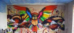 Граффити в квартире: материалы для рисования и варианты оформления